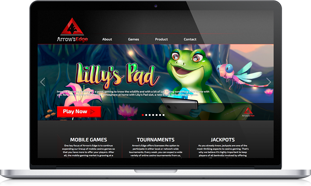 Arrows Edge Website Macbook